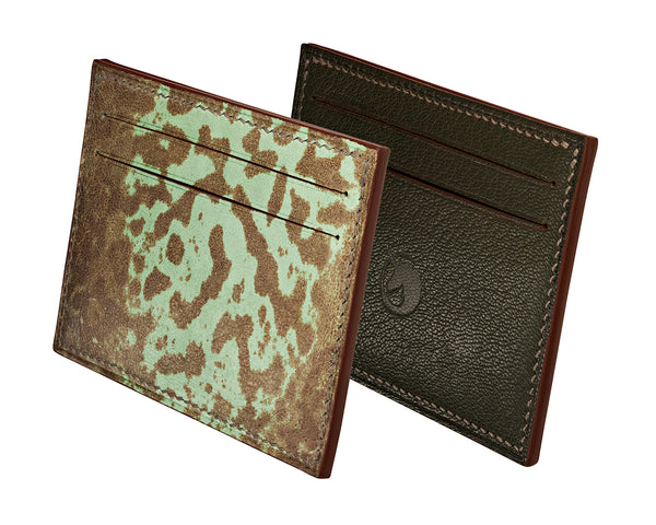 Limited Edition - Grenouille Vert Leather card holder