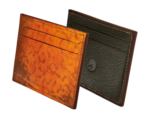 Limited Edition - Grenouille Orange Leather card holder