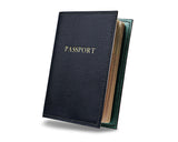 Navy Blue -  Custom Leather Passport Cover
