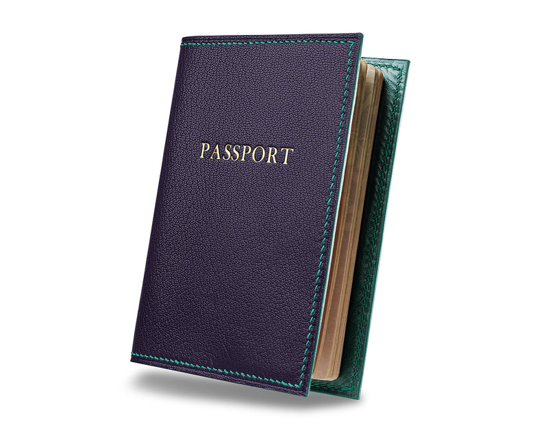 Deep Royal Purple -  Custom Leather Passport Cover