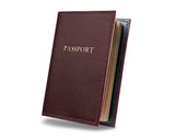 Bordeaux -  Custom Leather Passport Cover
