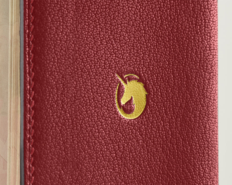 Lobster Red -  Custom Leather Passport Cover