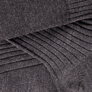 70% Cashmere 30% Silk Socks - Charcoal Grey