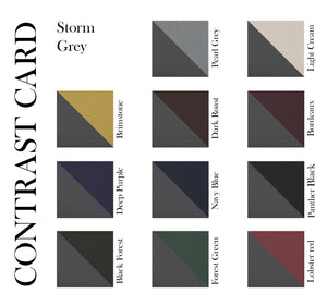 Geminus II - Storm Grey - Made to order Goat Leather & Silk card holder