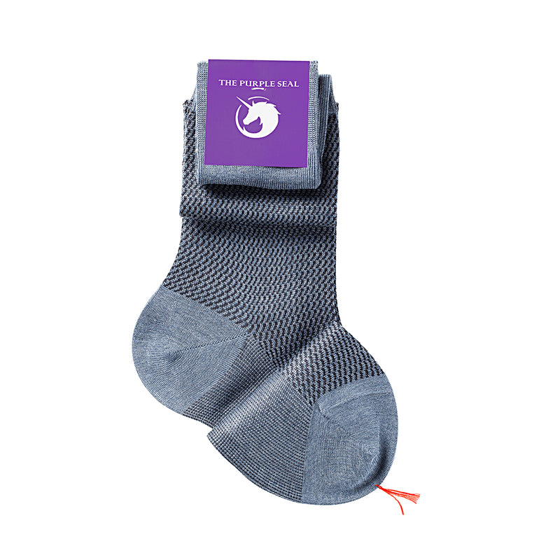 75% Egyptian Cotton 25% Silk Socks - Navy/Blue