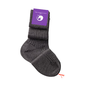 75% Merino Wool 25% Silk Socks - Grey