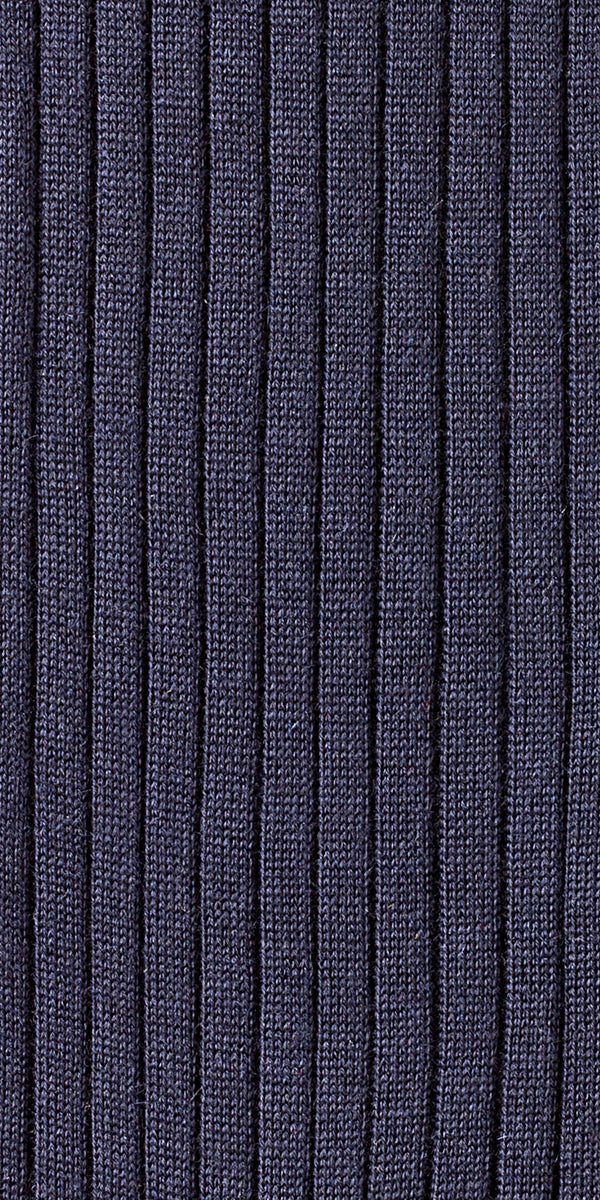 Ribbed Navy Blue Cashmere/Silk Over the calf Dress socks - 70% Cashmere 30% Silk Socks