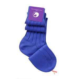 100% Pima Cotton Socks - Blue