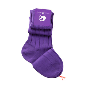 100% Pima Cotton Socks - Purple