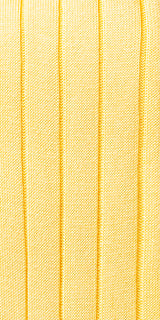 Ribbed Yellow Cotton Over the calf Dress socks - 100% Pima Cotton Socks