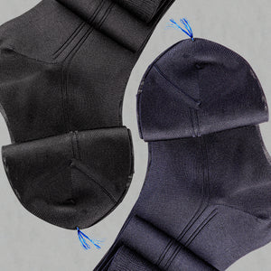 100% Organzino Silk Socks - Black