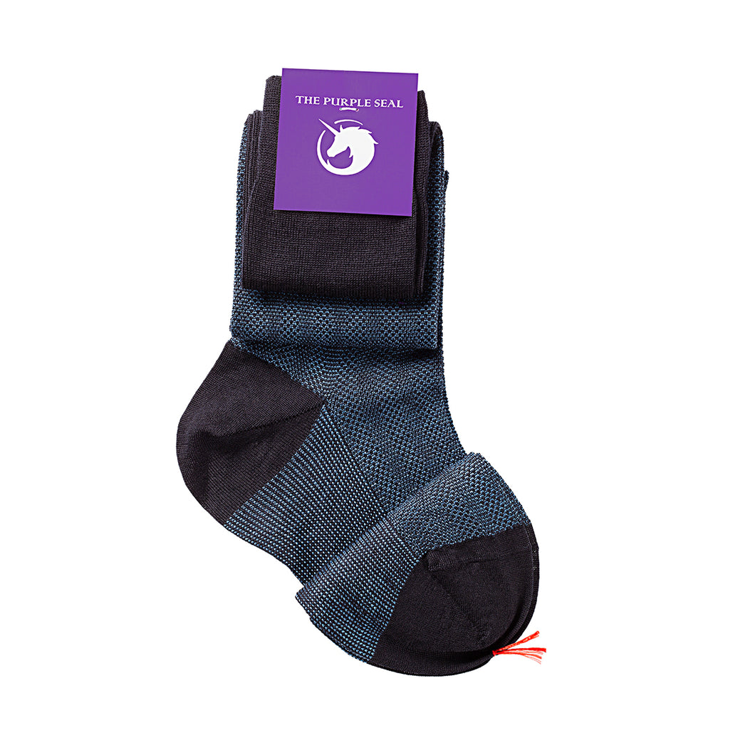 100% Merino super 140's Wool Socks - Navy/Blue