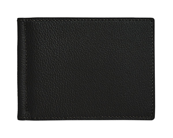 Viator - Panther Black - Custom Money Clip Leather Wallet