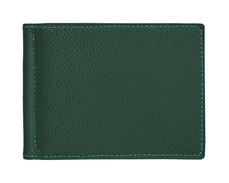 Viator - Forest Green - Custom Money Clip Leather Wallet