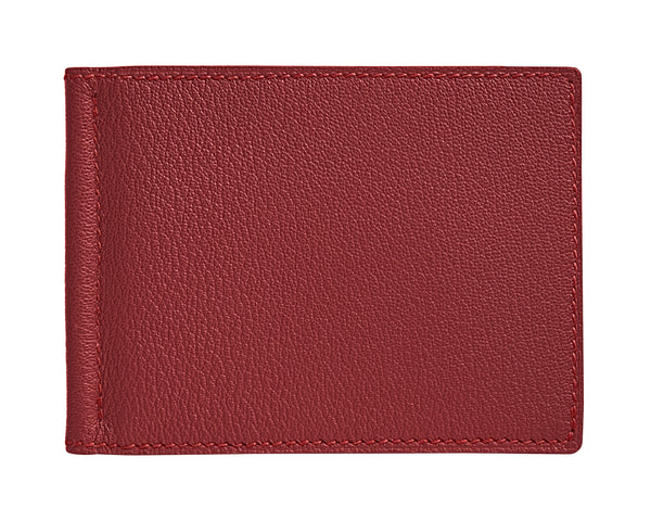 Viator - Lobster Red - Custom Money Clip Leather Wallet