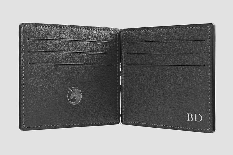 Viator - Pearl Grey - Custom Money Clip Leather Wallet