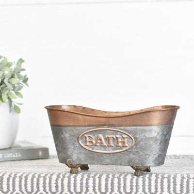 COPPER TIN BATHTUB