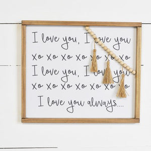 "16"" I LOVE YOU SIGN"