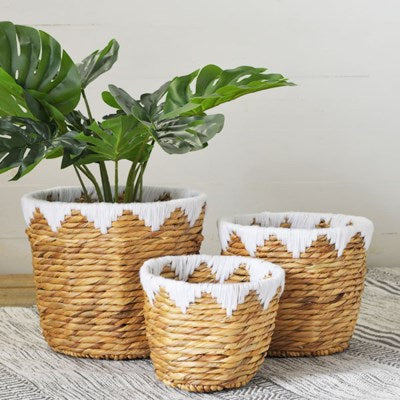 HYACINTH WEAVE BASKET- SET OF THREE