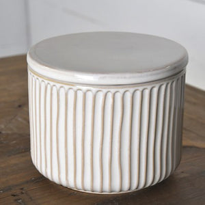 LARGE STRIPE NOVELTY BOX WITH LID