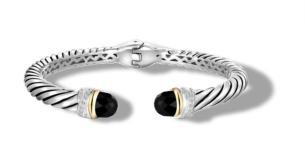 CROSS OVER BRACELET ONYX - Gir Collection