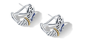VARSHA EARRINGS SAPPHIRE - Gir Collection