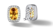 Load image into Gallery viewer, Raina Earrings with Citrine in Silver and 14K Gold