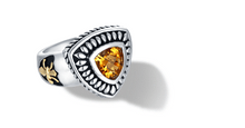 Load image into Gallery viewer, FLEUR DE LIS RING CITRINE - Gir Collection