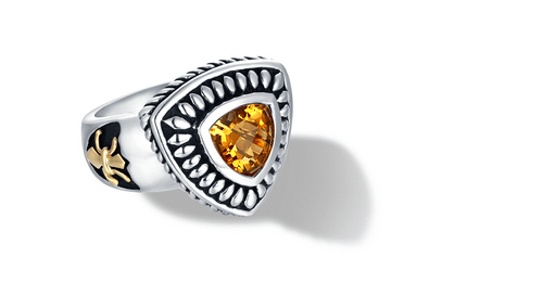 FLEUR DE LIS RING CITRINE - Gir Collection