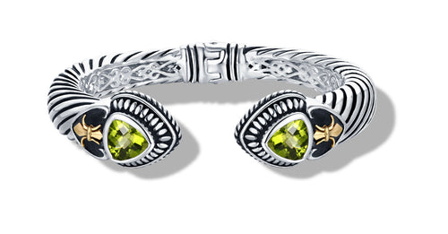 CLASSIC CABLE BRACELET PERIDOT IN SILVER /GOLD