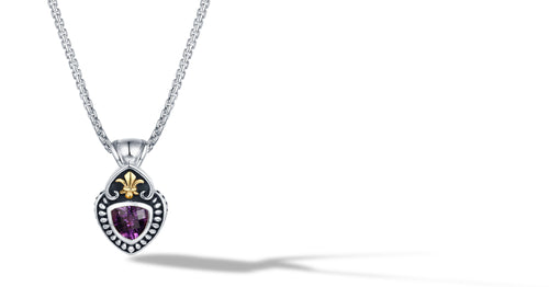 FLEUR DE LIS NECKLACE AMETHYST - Gir Collection