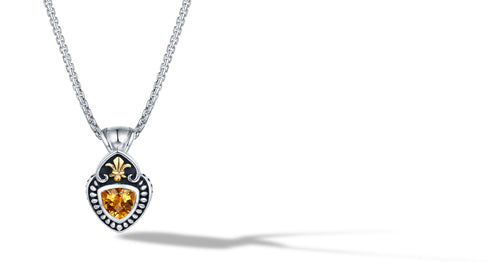 FLEUR DE LIS NECKLACE CITRINE - Gir Collection