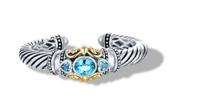JANKI BRACELET BLUE TOPAZ - Gir Collection