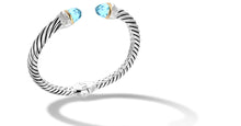 Load image into Gallery viewer, CROSS OVER BRACELET BLUE TOPAZ - Gir Collection