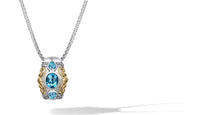 Load image into Gallery viewer, Janki Necklace with Blue Topaz in Silver and 14K Gold