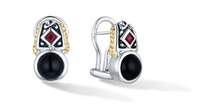 MANALI EARRINGS ONYX - Gir Collection