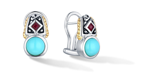 MANALI EARRINGS TURQUOISE - Gir Collection
