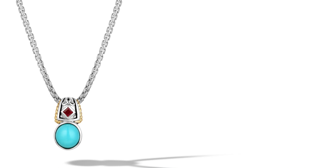 MANALI NECKLACE TURQUOISE - Gir Collection