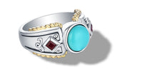Load image into Gallery viewer, MANALI RING TURQUOISE - Gir Collection