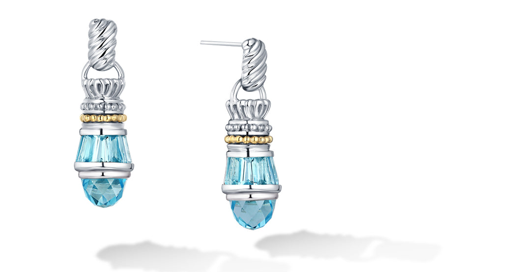 MAYA EARRINGS BLUE TOPAZ - Gir Collection