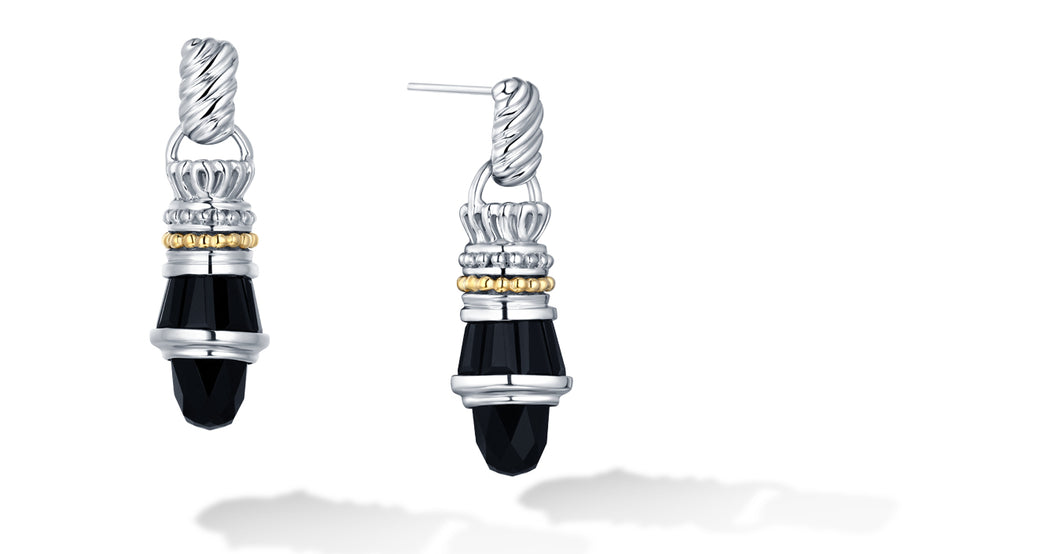 MAYA EARRINGS ONYX - Gir Collection