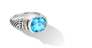 MAYA RING BLUE TOPAZ - Gir Collection