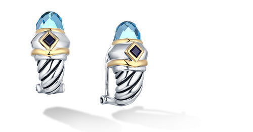 MEGHA EARRINGS BLUE TOPAZ - Gir Collection