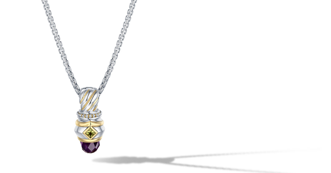 MEGHA NECKLACE AMETHYST - Gir Collection