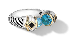 MEGHA RING BLUE TOPAZ - Gir Collection