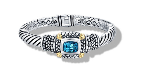 NIRVANA BRACELET BLUE TOPAZ - Gir Collection