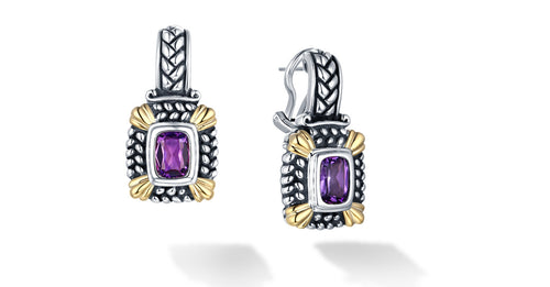 NIRVANA EARRINGS AMETHYST - Gir Collection