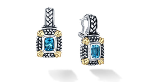 NIRVANA EARRINGS BLUE TOPAZ - Gir Collection