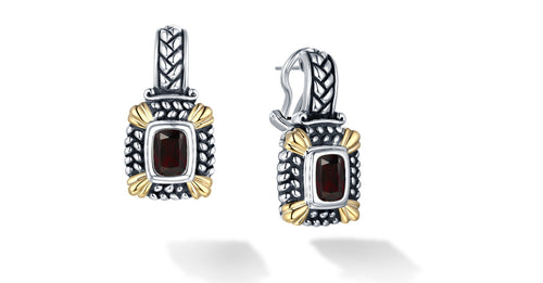 NIRVANA EARRINGS GARNET - Gir Collection