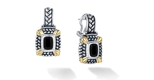 NIRVANA EARRINGS ONYX - Gir Collection